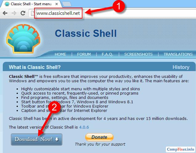 кнопка Пуск для Windows 8.1
