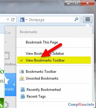 Как включить панель закладок в Tor Browser