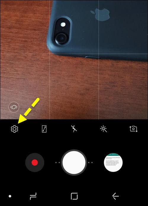 настройки камеры Galaxy S9