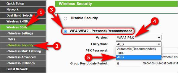 WPA2-PSK-AES на старом роутере